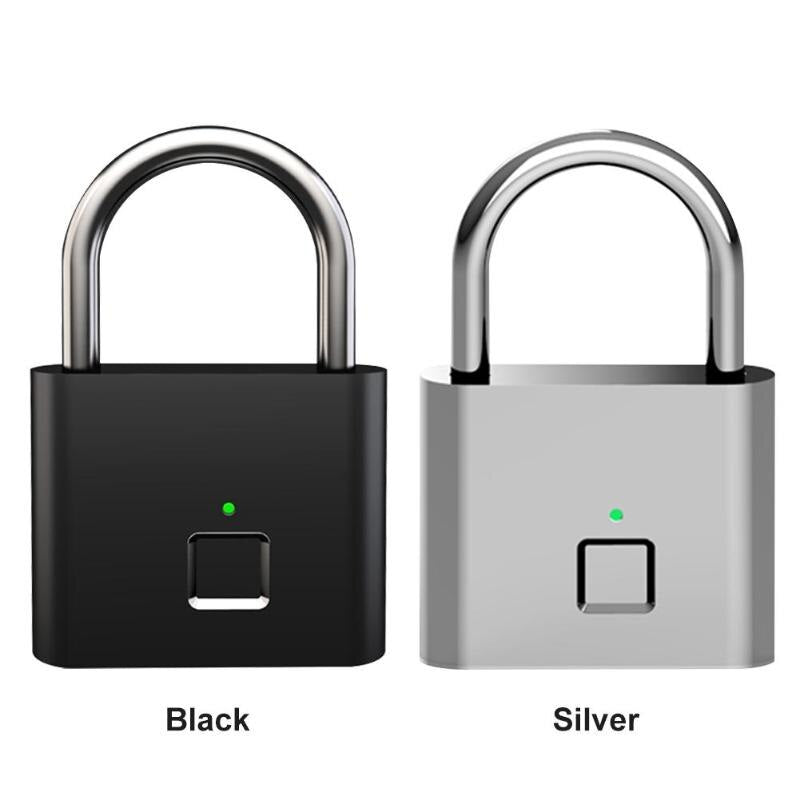 Keyless Smart Fingerprint Padlock USB Rechargeable Automatic Fingerprint Lock for Garage Door Drawer Suitcase Smart Home Homekit
