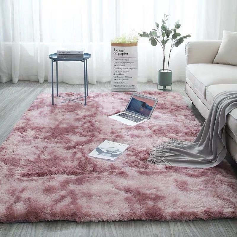 Fashion Plush Rug Soft Rectangle Shaggy - home and decor