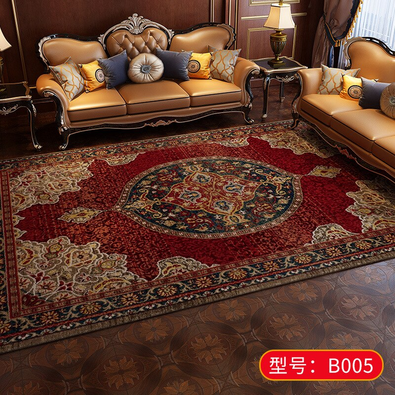 European Retro Large Persian Carpets Bedroom Home Lving Room Rugs And Carpet Non-slip - home and decor-oosmdeals