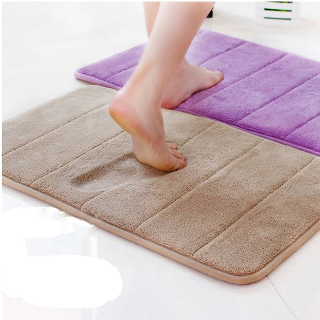Water Absorbent Soft Memory Foam Mat Carpet - home and decor