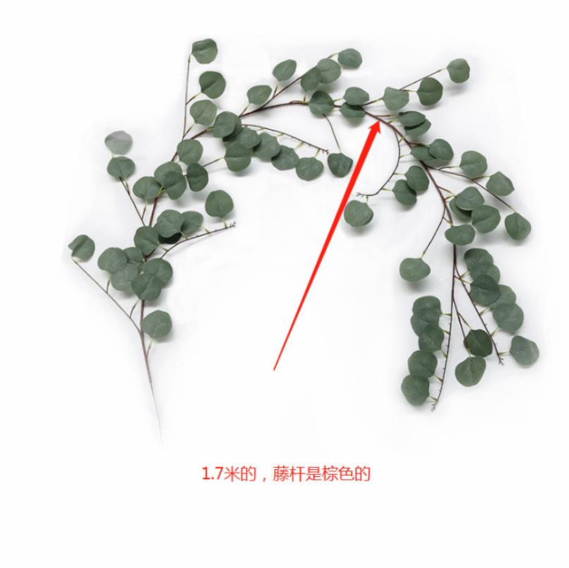 Artificial Fake Eucalyptus Garland Long Leaf Plants Greenery Foliage - home and decor-oosmdeals