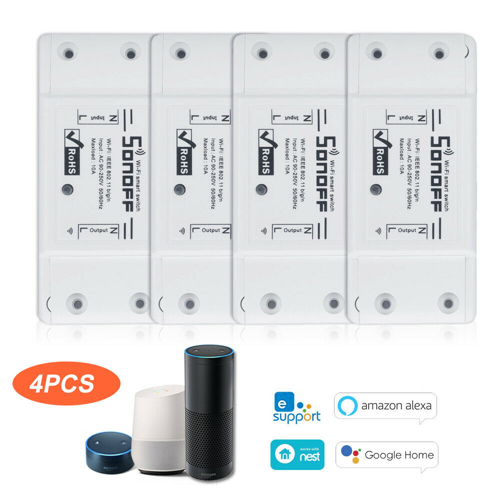 2/3/4/5/6/8/10pcs SONOFF Basic Wifi Switch for Alexa Google Home Timer 10A/2200W - home decor Online store-oosmdeals