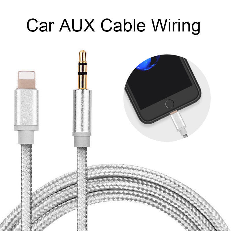 1M for Lightning To AUX Cable Car Converter 3.5mm Jack Male Cable Headphone Aux Line Earphone Audio Adapter for IPhone IPad IOS - home decor Online store