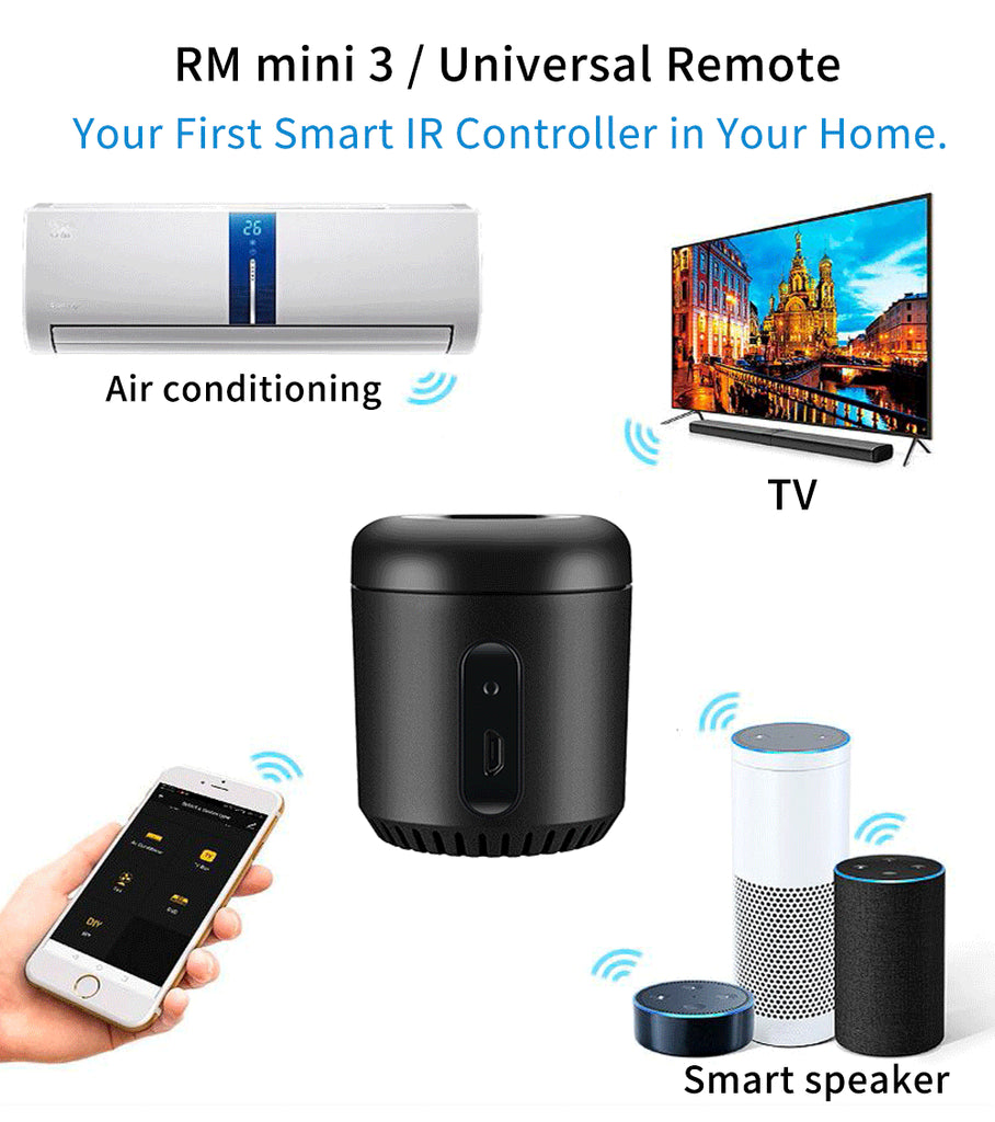 Broadlink RM Mini3 Alexa Amazon WiFi IR 4G Compatible Google Home Mini Wireless Smart Remote Controller IOS Siri Voice Control - home decor Online store
