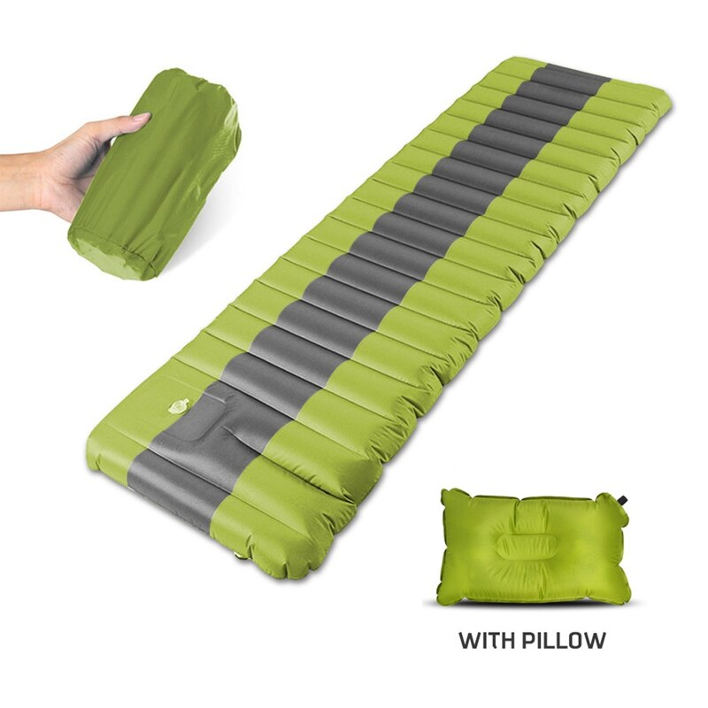 New Self Inflating Camping Airbed Sleeping Pad Outdoor Mats Moistureproof Inflatable Air Mattress - home and decor-oosmdeals