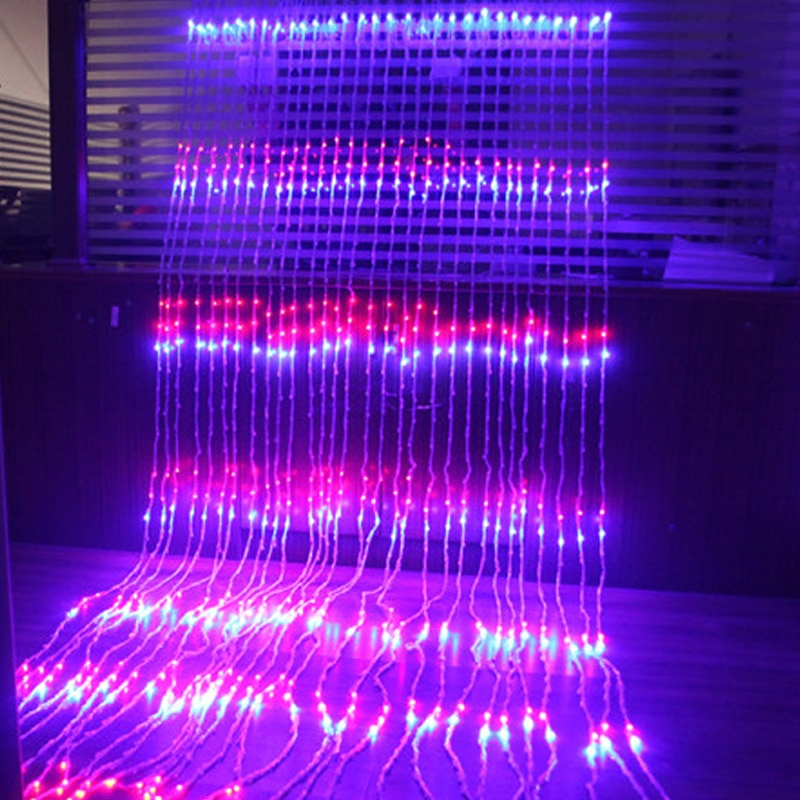 6X3M  3X3M 3X2M LED Waterfall Curtain Icicle LED String Light Christmas Wedding Party Background garden Decoration lights - home decor Online store