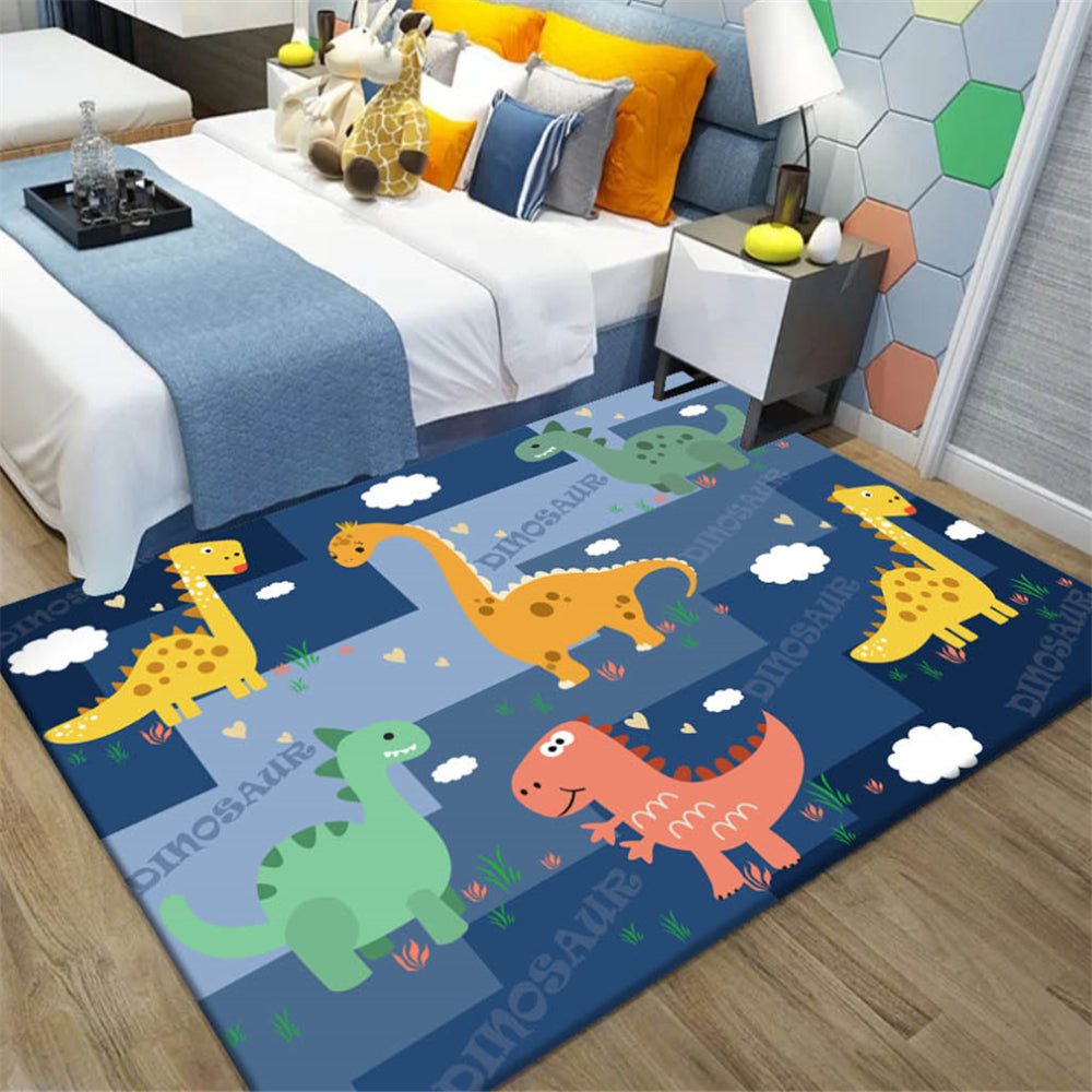 Cartoon Dinosaur Kids Bedroom Floor Mat Soft Baby Play Crawling Area Rug Children Game Mat Bedside Rug Carpet for Living Room - home and decor