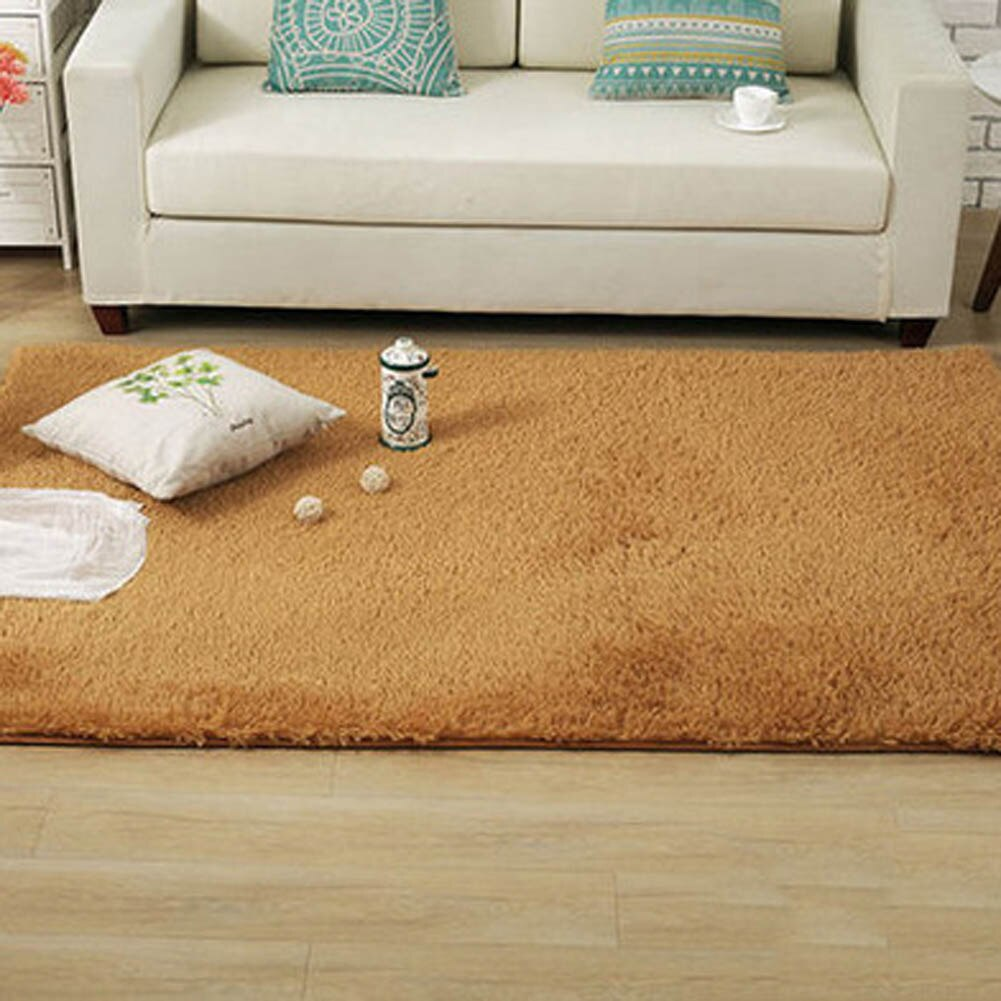 Living room/bedroom Rug Antiskid soft modern carpet mat white pink - home and decor-oosmdeals
