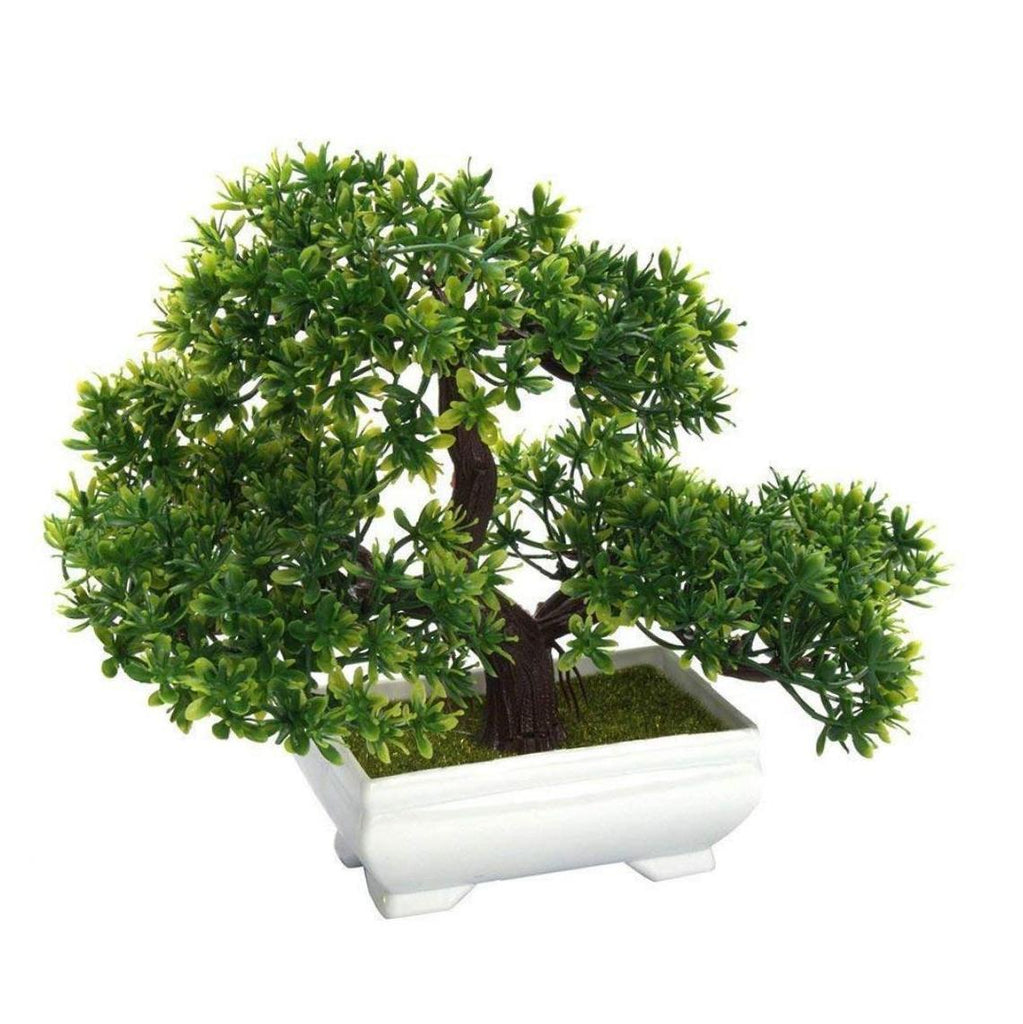 Artificial Bonsai Tree Fake Plant Decoration Potted Green House Plants for Home Garden Decor Desktop Display - home and decor