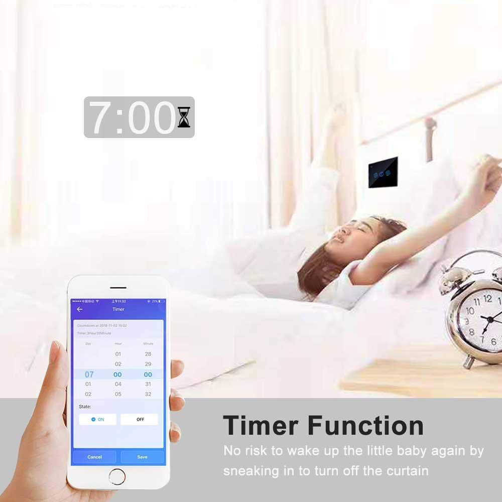 WiFi Smart Curtain Switch Tuya Remote Control  for Garage Electric Doors Rolling Shutters work with Alexa Google Home Nest IFTTT