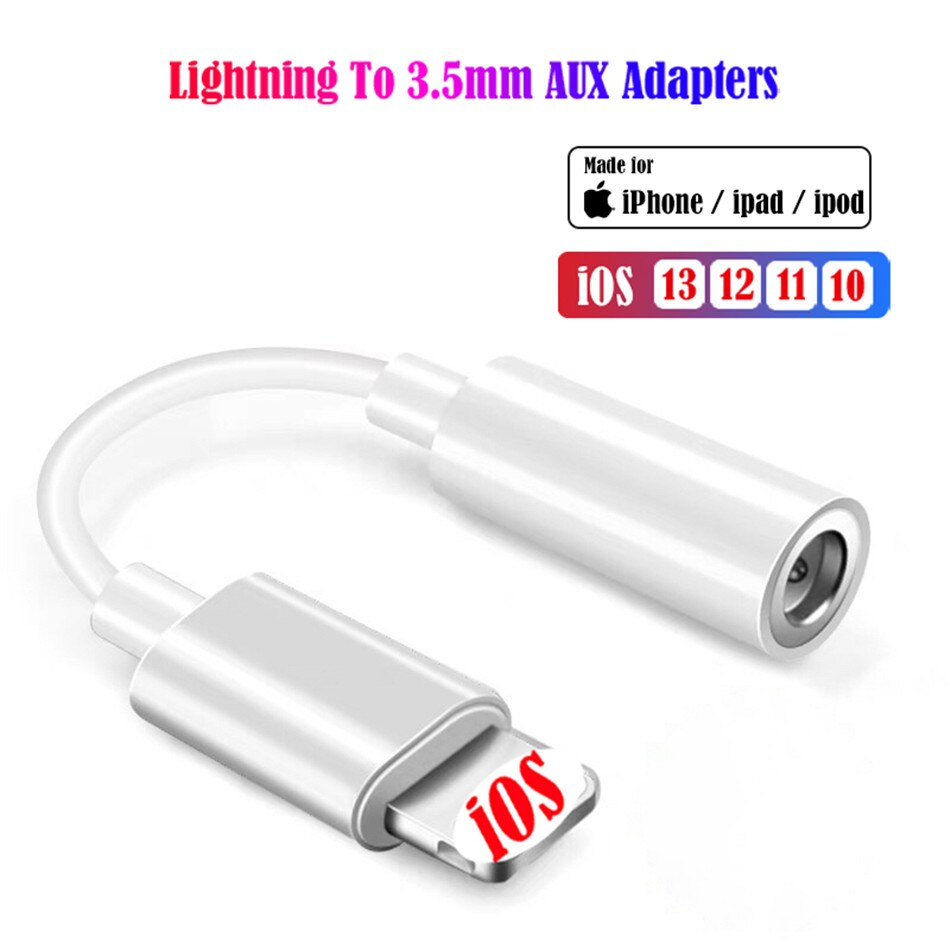 Adapter for Lightning to 3.5mm Jack AUX Cable for iPhone 11 Pro 7 8 plus XR XS MAX - home decor Online store-oosmdeals