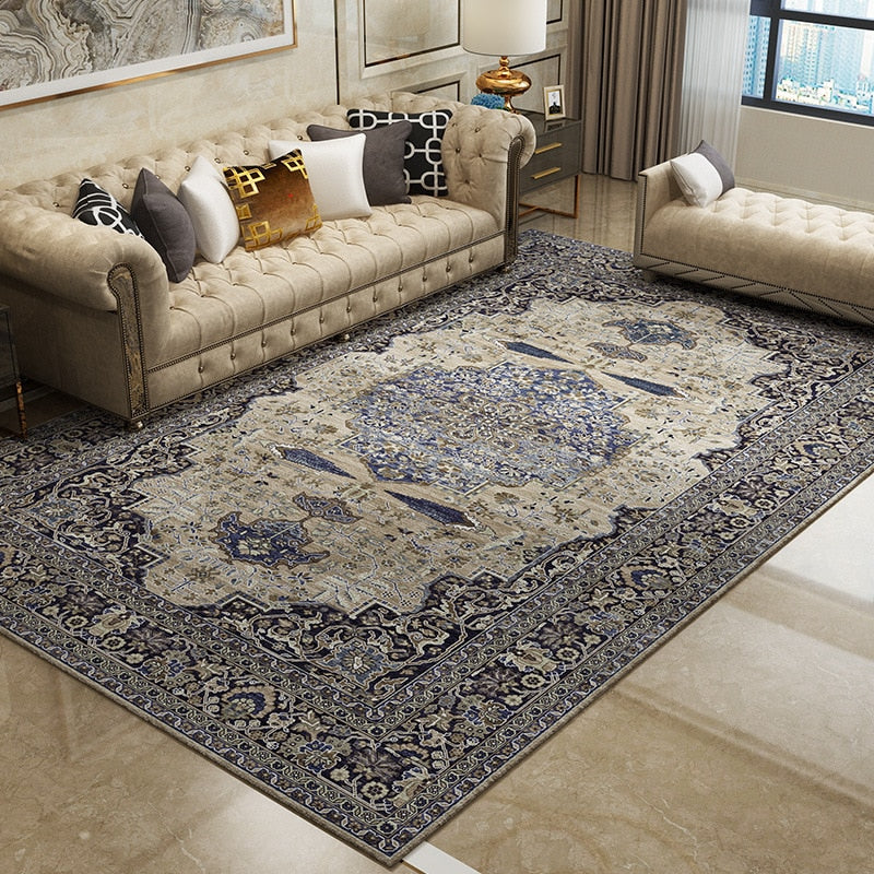 European Retro Large Persian Carpets Bedroom Home Lving Room Rugs And Carpet Non-slip - home and decor