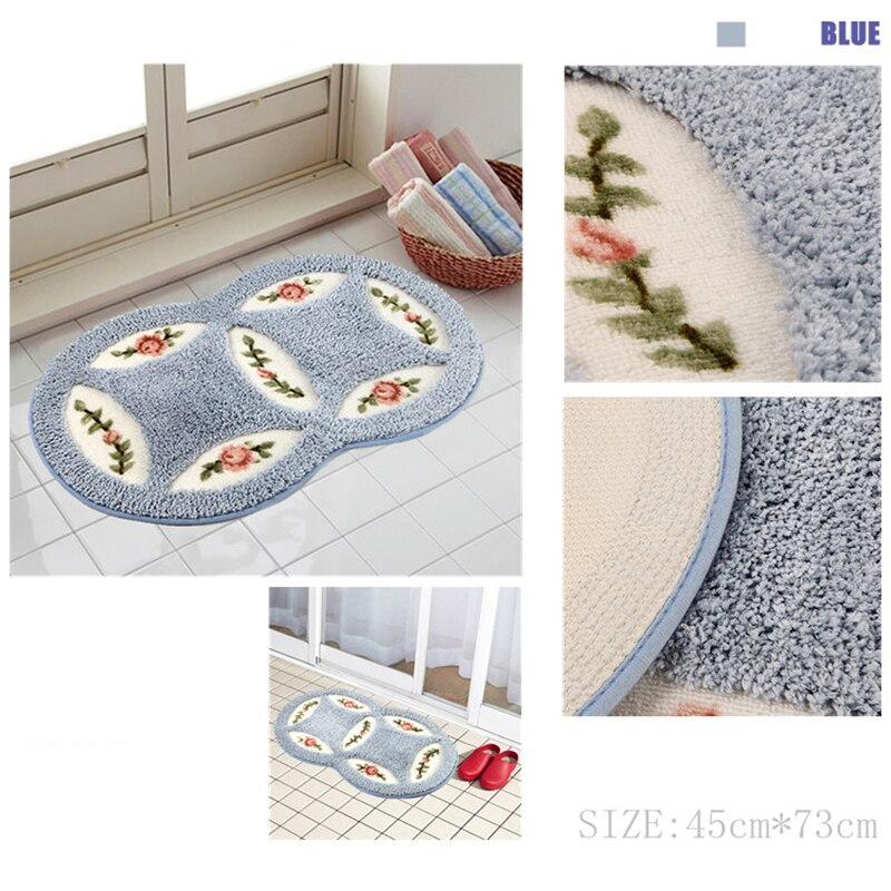 Bahmetev PVC Mesh Coral Fleece Outdoor Mats Bathroom Home Area Rugs Water Bath Accent Rugs Anti Slip Anti-Bacteria Rugs