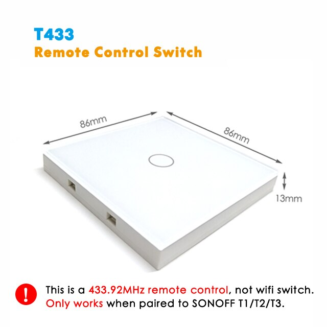 Sonoff T1 T2 EU Smart Touch Switch, Ewelink APP / 433 RF Remote Controller - home decor Online store-oosmdeals