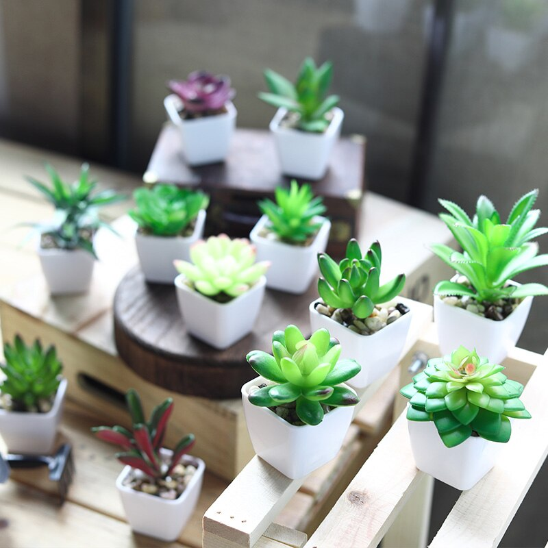 Super Cute Mini Succulent Artificial Plants - home and decor
