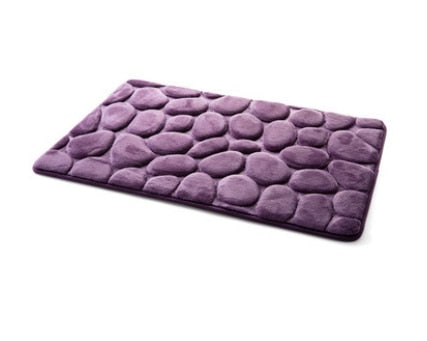 40*60CM Coral Fleece Bathroom Memory Foam Rug Kit Toilet Pattern Bath Non-slip Mats - home and decor-oosmdeals