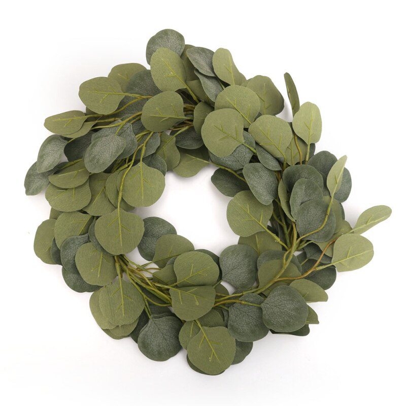 Artificial Eucalyptus Rattan Foliage Green Leaves String Simulated Vine - home and decor-oosmdeals