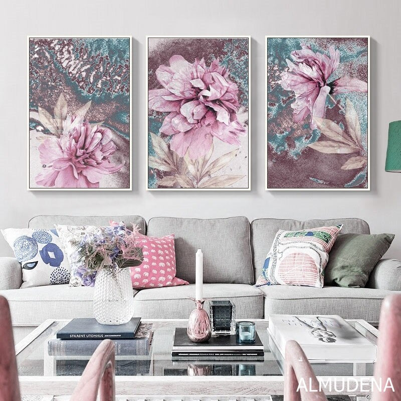 Abstract Painting Scandinavian Poster Nordic Decoration Home Wall Art Flowers Posters And Prints Decorative Pictures Unframed