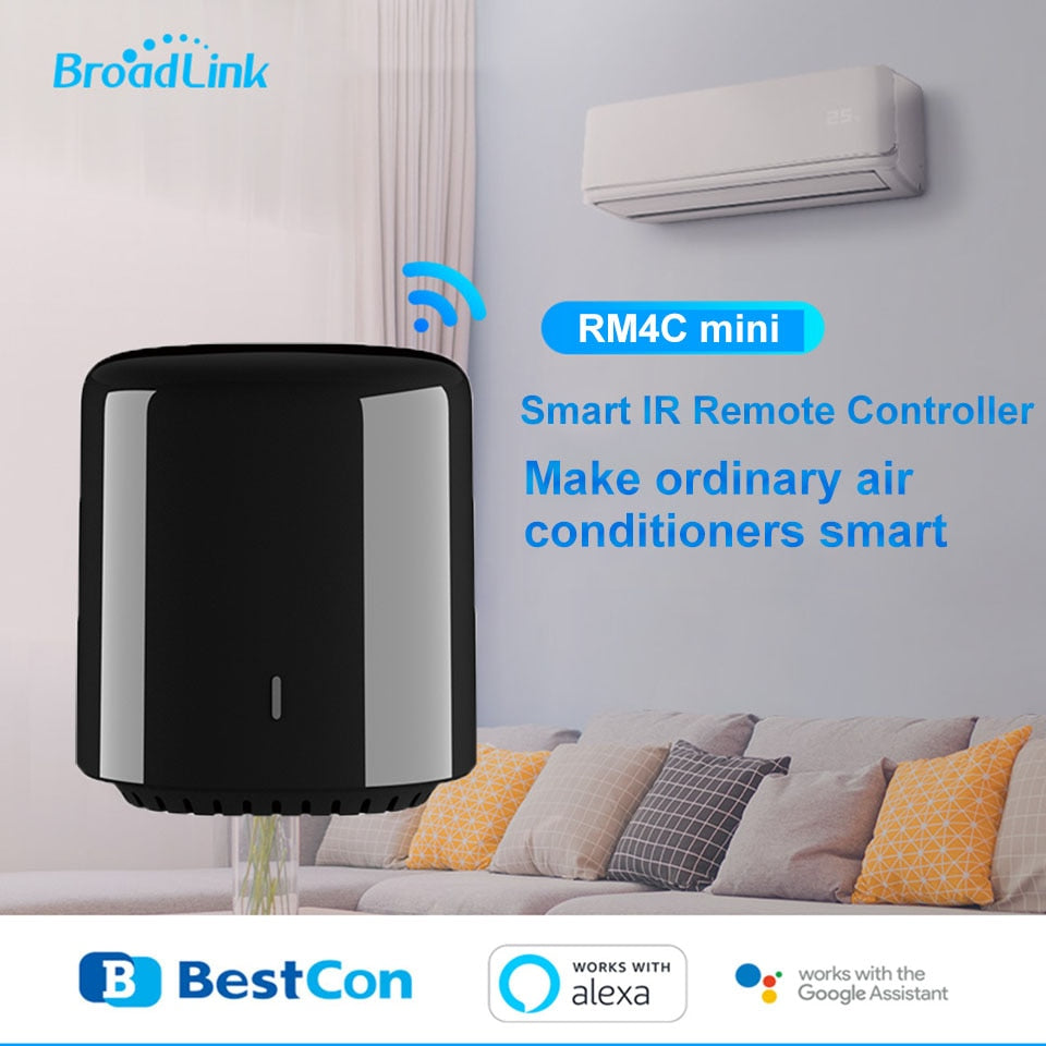 Original Broadlink Bestcon Smart Home RM4C Mini WiFi+IR+4G Remote Control EU Plug Wireless Controller - home decor Online store
