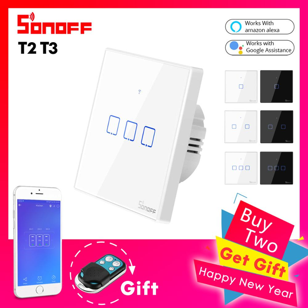 Sonoff T1 T2 EU Smart Touch Switch, Ewelink APP / 433 RF Remote Controller - home decor Online store