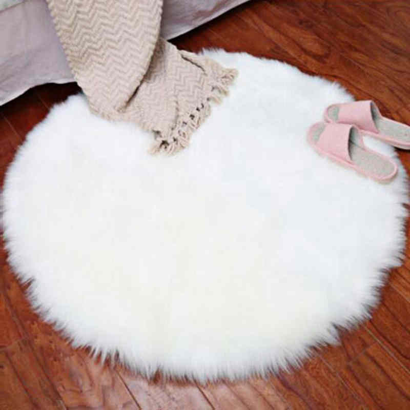 New Soft Faux Fur Wool Living Room Sofa Carpet - home and decor