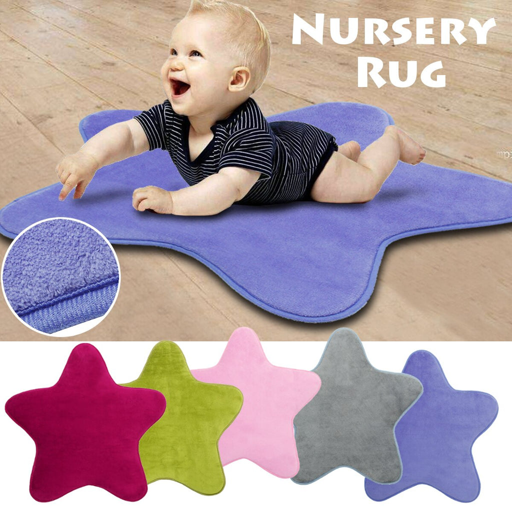 HomeTextile Star Kids Play Mat Baby Rug Anti Slip Comfortable Floor Cotton Crawl Carpet - home and decor