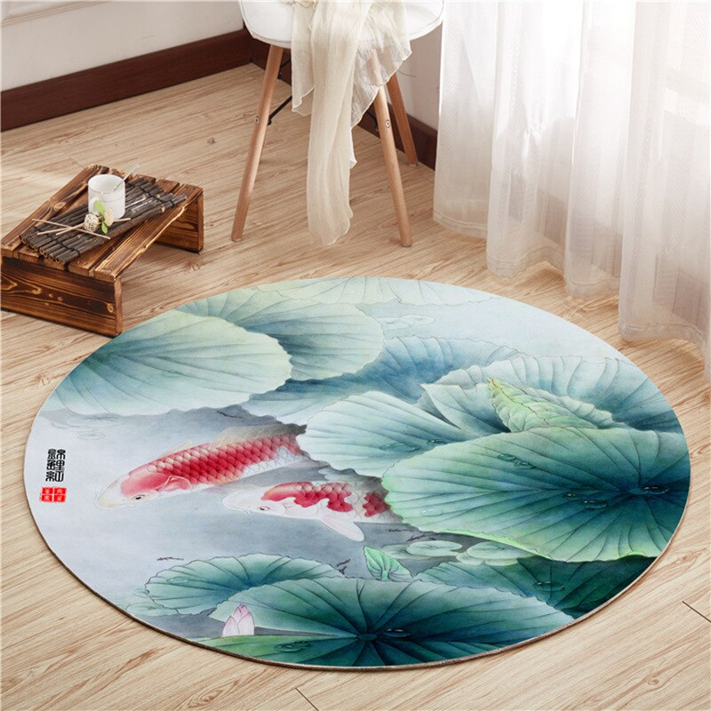 Retro Chinese Style Carpets Living Room Bedroom Study Bedside Carpet Decor Model Showcase Rugs 3D Printed Household Yoga Rug Mat