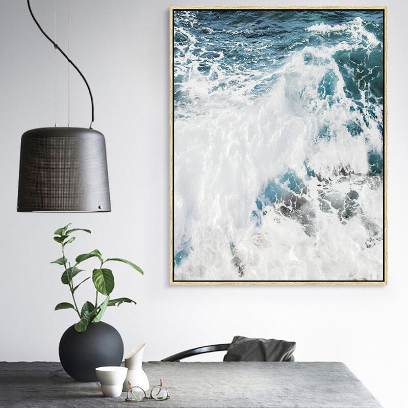 Ocean Wave Landscapes Canvas Painting Seascape Nordic Posters and Prints Home Decoration Living Room Wall Art Pictures Unframed
