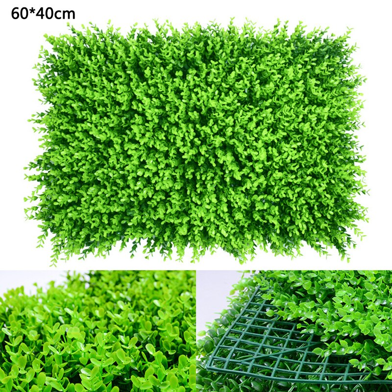 40x60cm Grass Mat Green Artificial Plant Lawns Landscape Carpet for Home Garden Wall Decoration Fake Grass Party Wedding Supply - home and decor