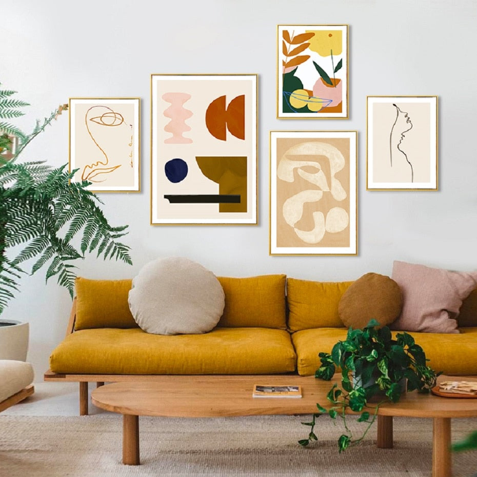 Modern Abstract Scandinavia Canvas Painting Poster and Prints - wall art