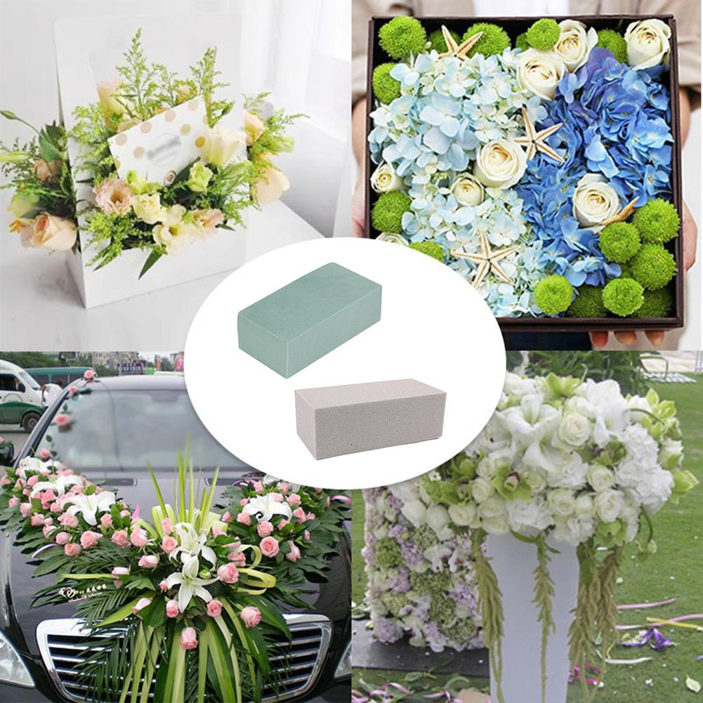 Sponge Foam Brick Flower Silk Artificial Flower Brick Flower Arrangement Flower Holder DIY Crafts Wedding Decoration