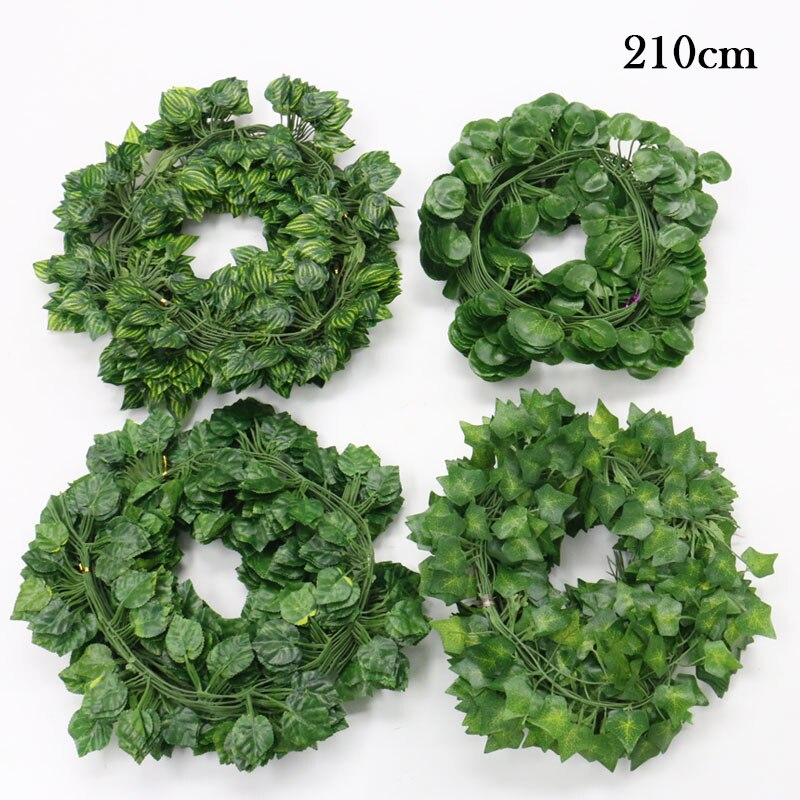 200cm Artificial plants Creeper green leaf Ivy vine For Home Wedding Decora wholesale diy Hanging Garland Artificial Flowers
