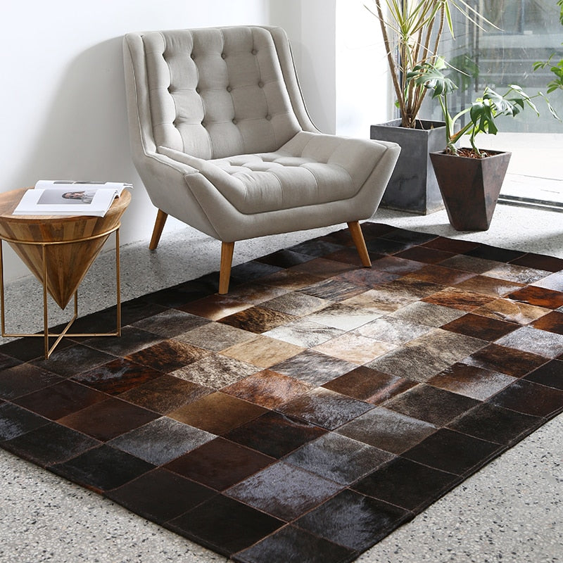 European Style Geometric Grid Carpets - home and decor