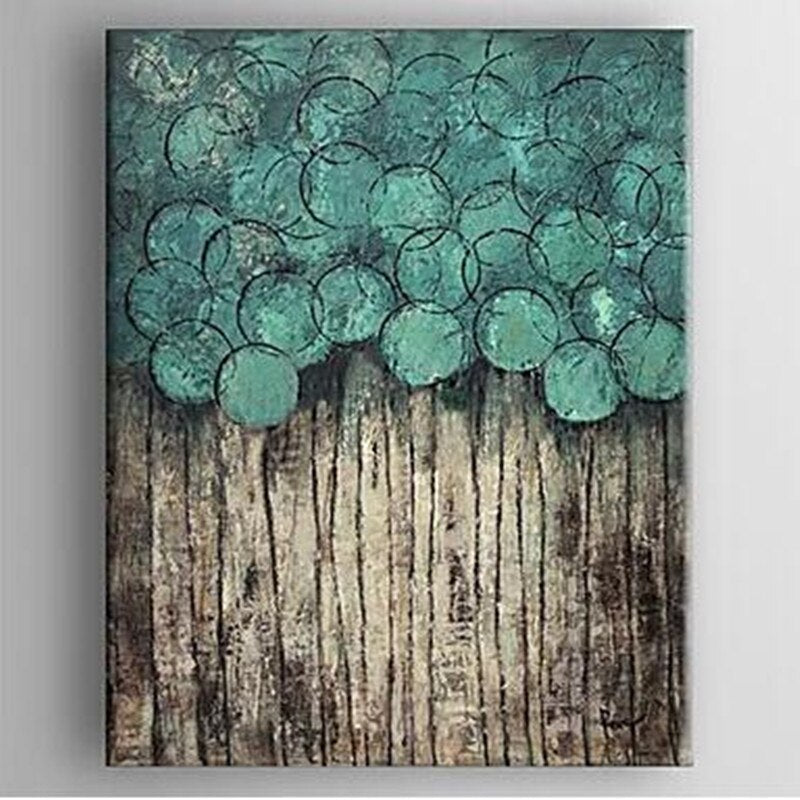 Big size Abstract flower trees Oil Painting Canvas handmade tree oil painting Wall Art Picture for Living Room hotel Home Decor