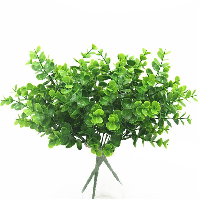 7 Fork water grass Eucalyptus Plastic Artificial Plants Green Grass plastic flower - home and decor-oosmdeals