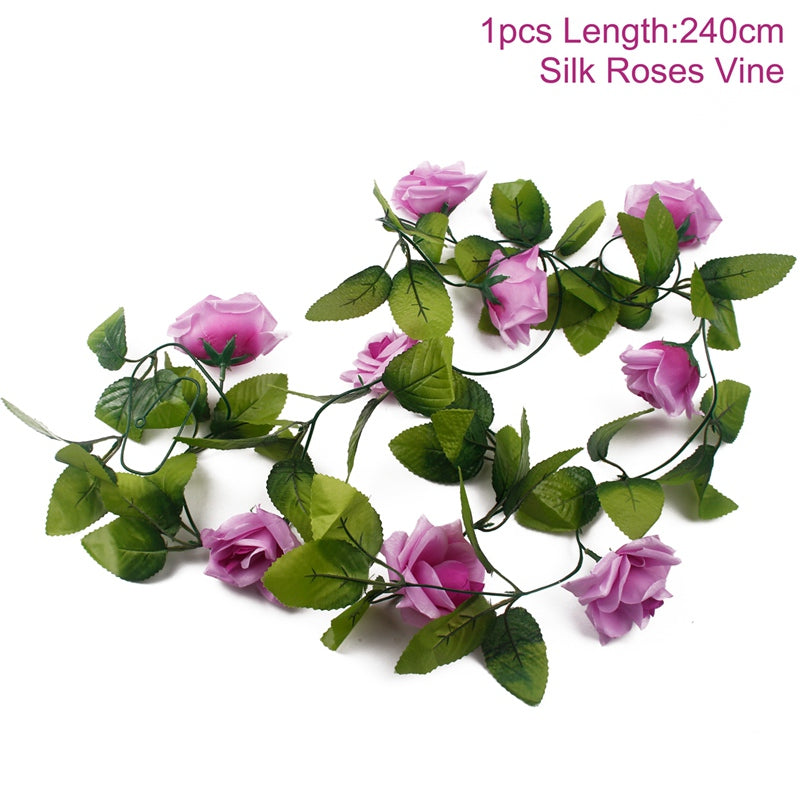 FENGRISE 80cm 1pcs Artificial Flowers Vine Ivy Leaf Fake Plant Artificial Plants Green Garland Home Wedding Party - home and decor-oosmdeals
