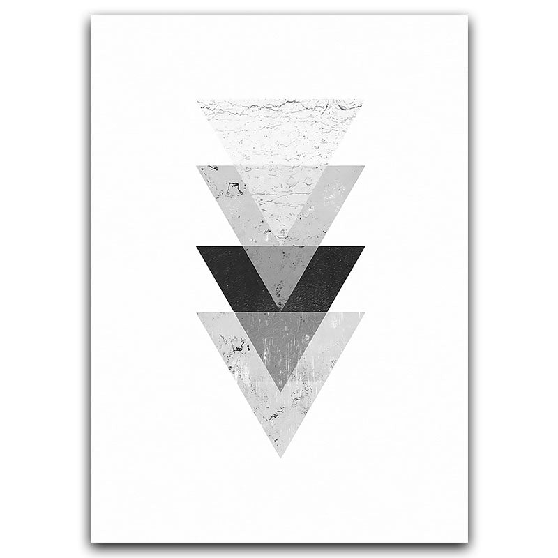 Minimalist Style Marble Geometric Pattern Abstract Decorative Canvas Painting Print Poster - wall art-oosmdeals