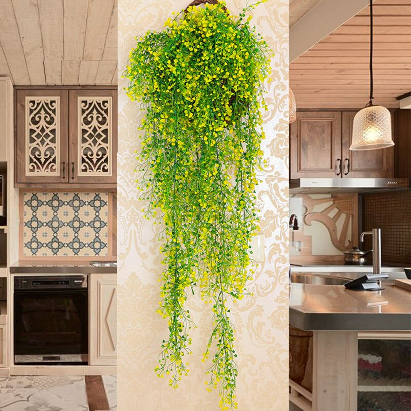 Artificial Fake Silk Flower Vine Garden Decoration Hanging Garland Plant Artificial Plants Home Garden Wedding Decor