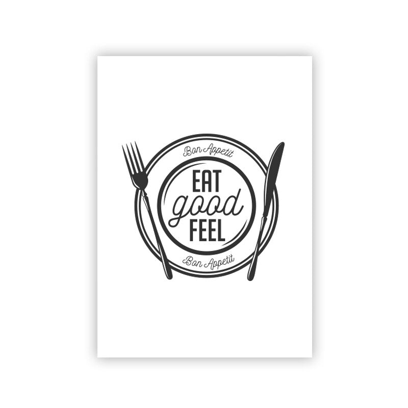 Kitchen Decor Food Quote Canvas Painting Wall Art Print Poster- wall art-oosmdeals