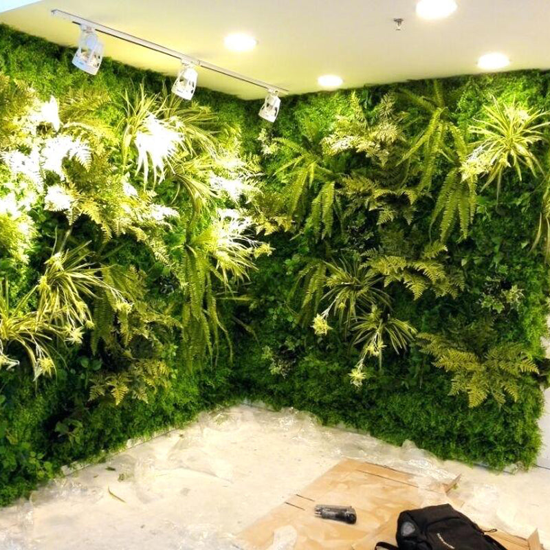 Customized Free Style Artificial Plant Wall High Simulation Indoor Plants Lawn High Simulation Green Plant Wall in Cheap Price
