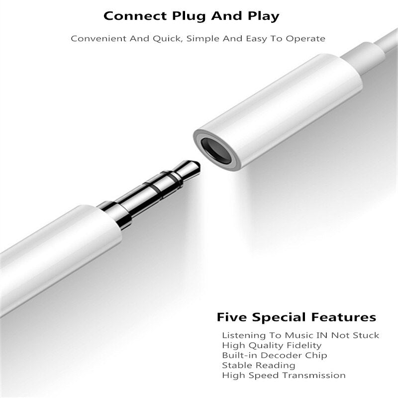 IOS 13 Headphone Adapter For iPhone 11 Pro Max 7 8 X XR AUX Adapter For Lightning Female To 3.5mm Male Earphone Jack Cable Audio