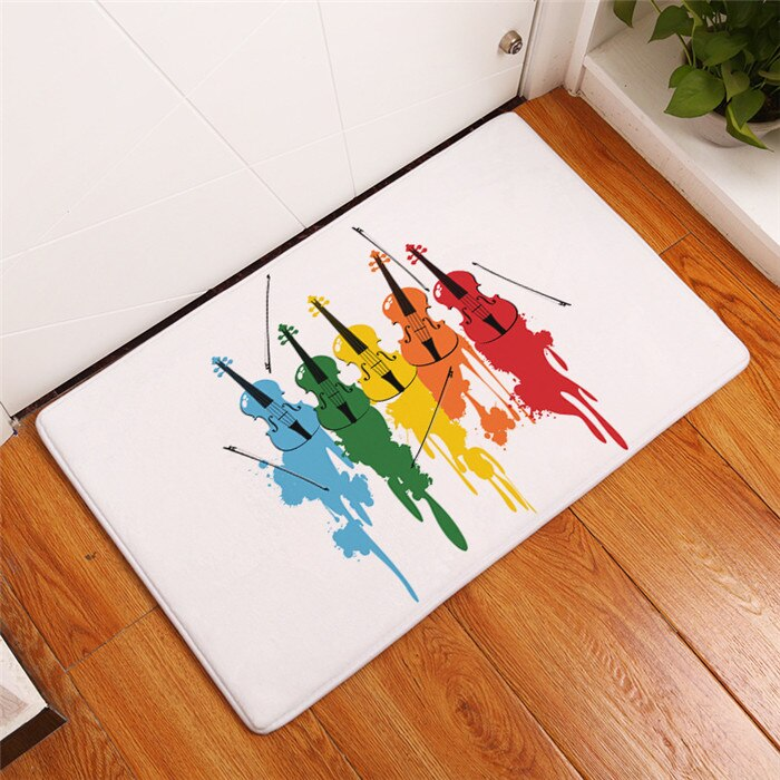 Piano Keyboard Music Note Carpet Memory Foam Rugs Flannel Carpet - home and decor-oosmdeals