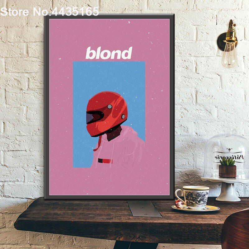 Frank Ocean Poster Rapper Music Star Blond Posters and Prints Wall Art Canvas Painting Picture for Bar Room Home Decor