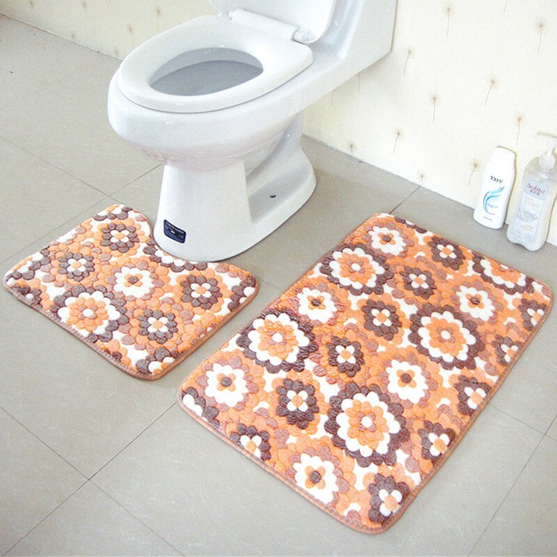 2 pcs / set Thickening Coral Fleece Floor Mats carpet - home and decor-oosmdeals