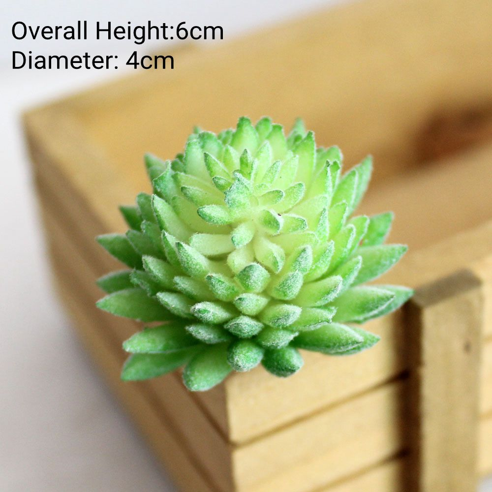 Green Purple Red White Blue Flocking Artificial Succulents Plants Home Garden Decoration Plastic Plants Mini Desktop Bonsai