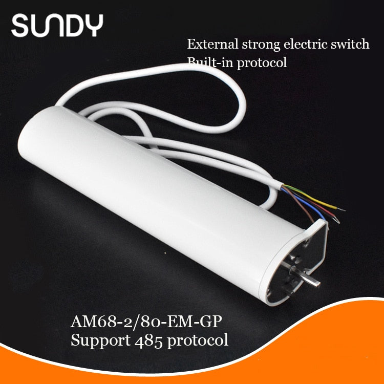 A-OK DC motor AM68 100-240V silent electric curtain track, support external switch and 485 protocol smart home electric curtains - home decor Online store