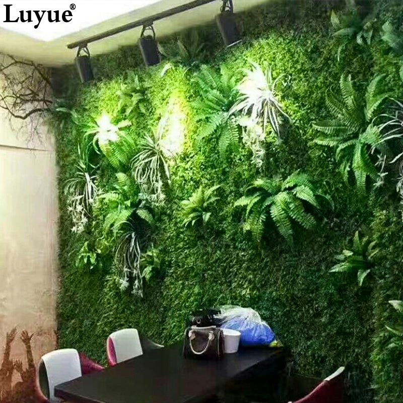 Luyue Artificial Plant Wall Plant Accessories Green plants Grass Subtropical plant - wall art