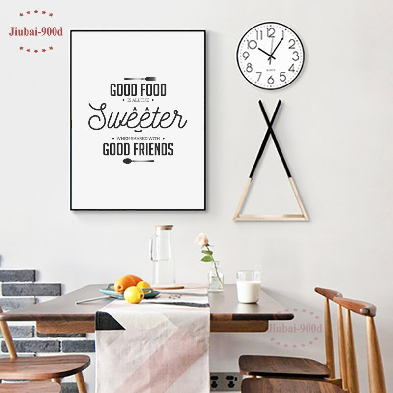 Kitchen Decor Food Quote Canvas Painting Wall Art Print Poster, Wall Pictures for Home Decoration,Giclee Print Wall Decor S16050