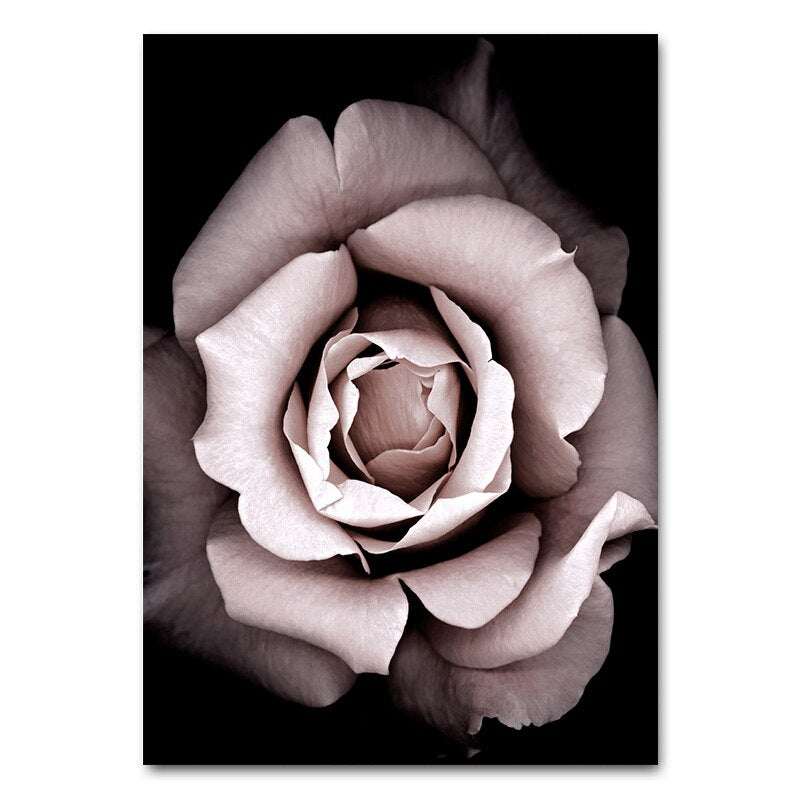 Flower Rose Botanical Canvas Art Poster Nordic style - wall art-oosmdeals