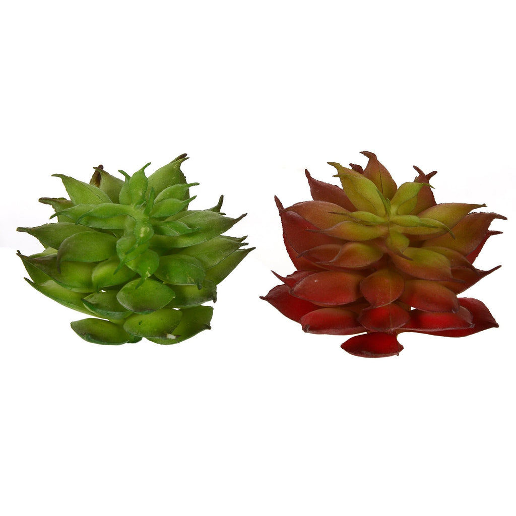 Green Red Mini Lotus Artificial Succulents Plants Home Garden Ornament Lovely Fake Plants